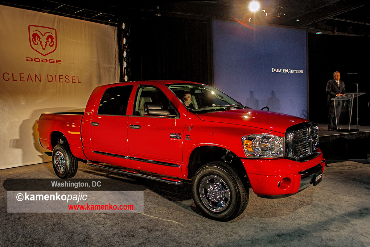 Chrysler Group President and CEO Thomas W. LaSorda introduce new 2007 Dodge Ran 3500