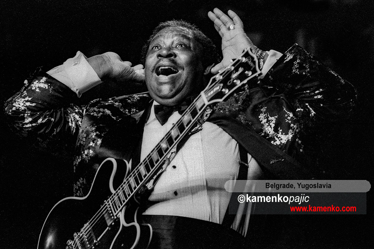 B.B. King in conert