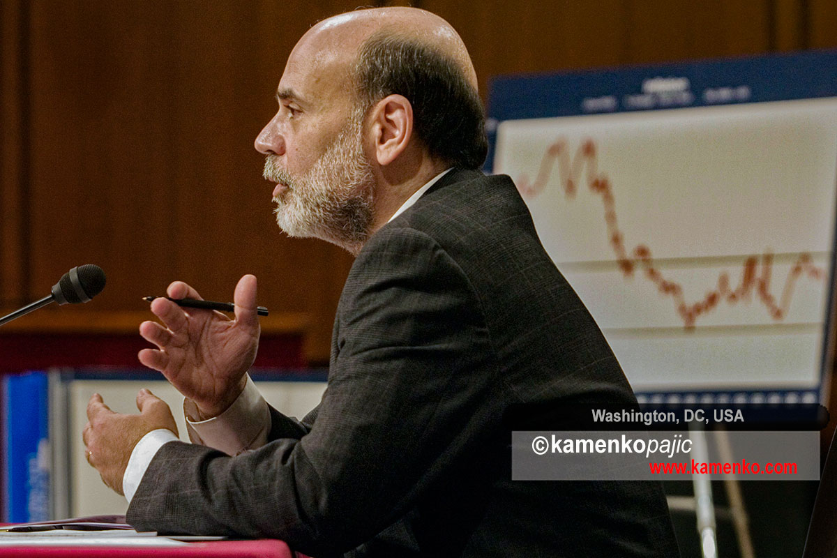 U.S. Federal Reserve Chairman Ben Bernanke answers questions before the Joint Economic Committee on Capitol Hill