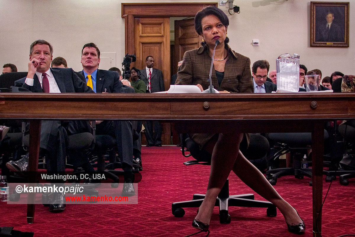 U.S. Secretary of State Condoleezza Rice testifies before the Foreign Operations, Export Financing and Related Programs Subcommittee
