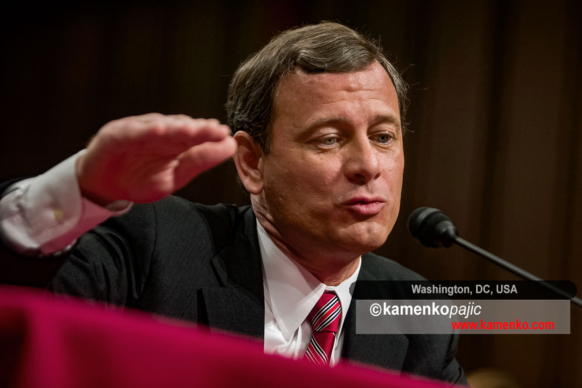 John Roberts testifies on Captol Hill